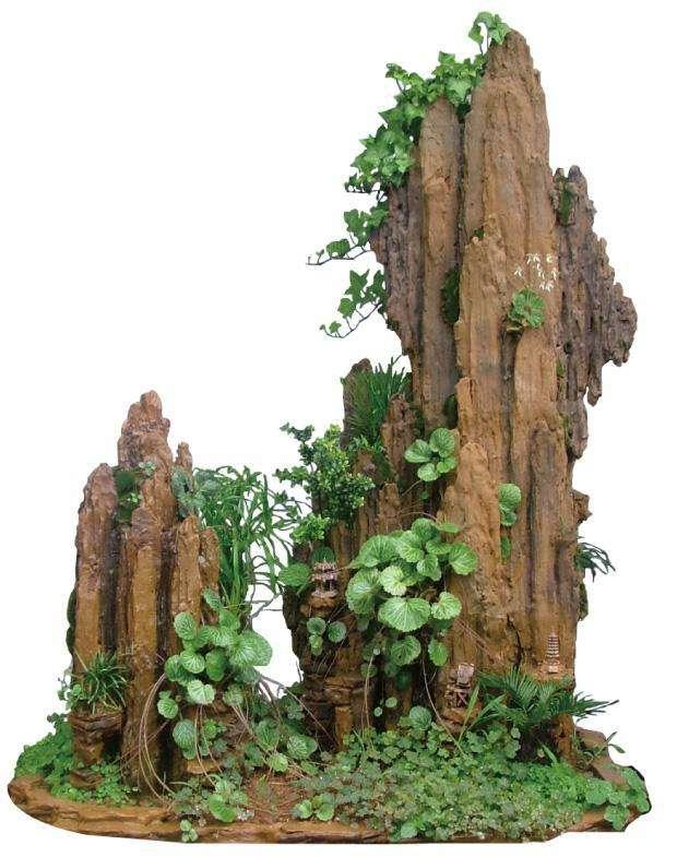 假山假树的山顶是怎样制作的