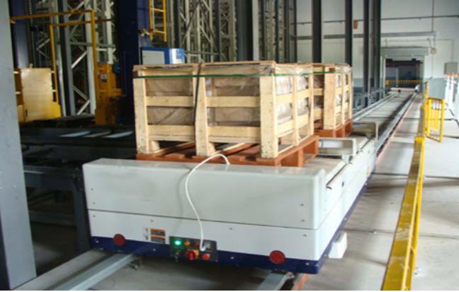 科德智能承建的海南南國車間與立體庫之間的自動化智能輸送線