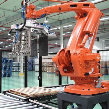 科德智能承建的鄂尔多斯酒业码垛机器人码垛拆垛系统