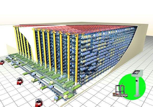 自动化立体仓库剖面图