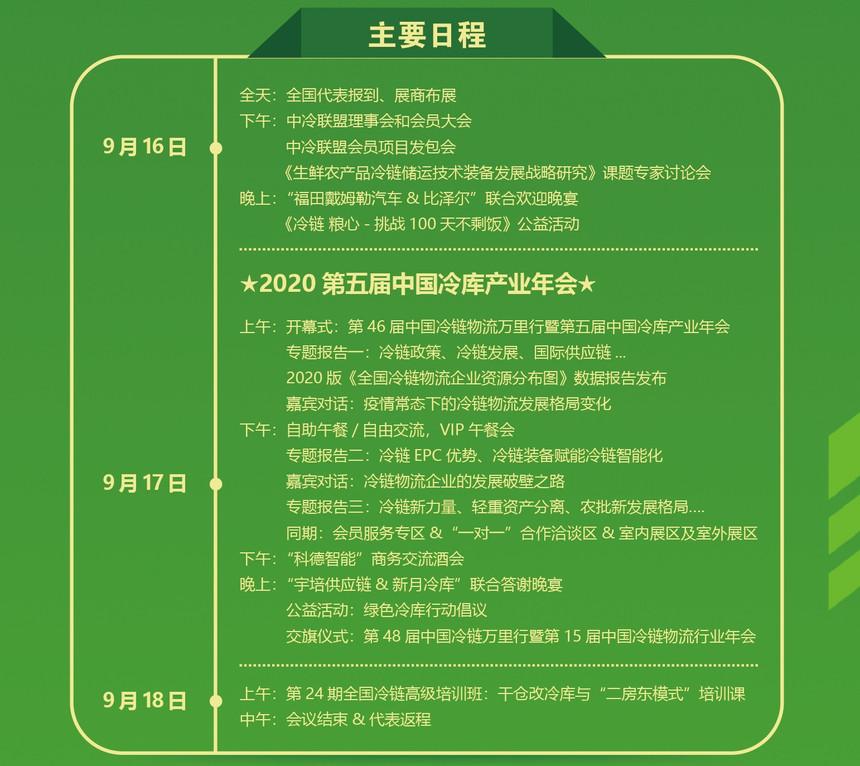 第五届中国冷库产业年会日程