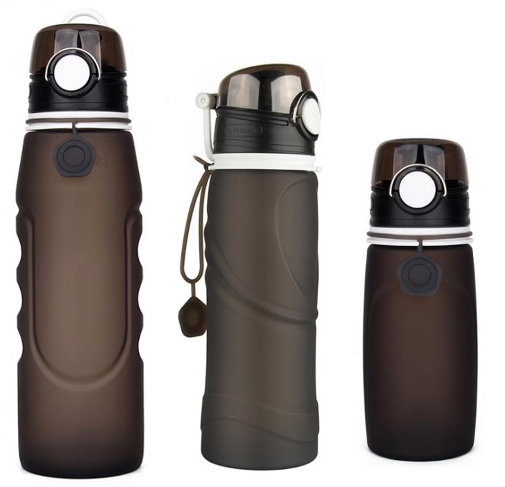 grayblack water bottle