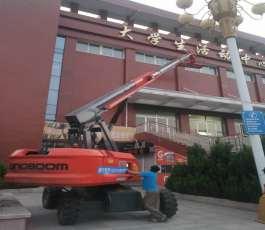 26米臂车在西部会展中心作业
