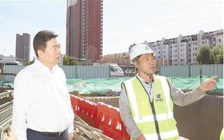 党晓龙暗访检查主城区城市建设