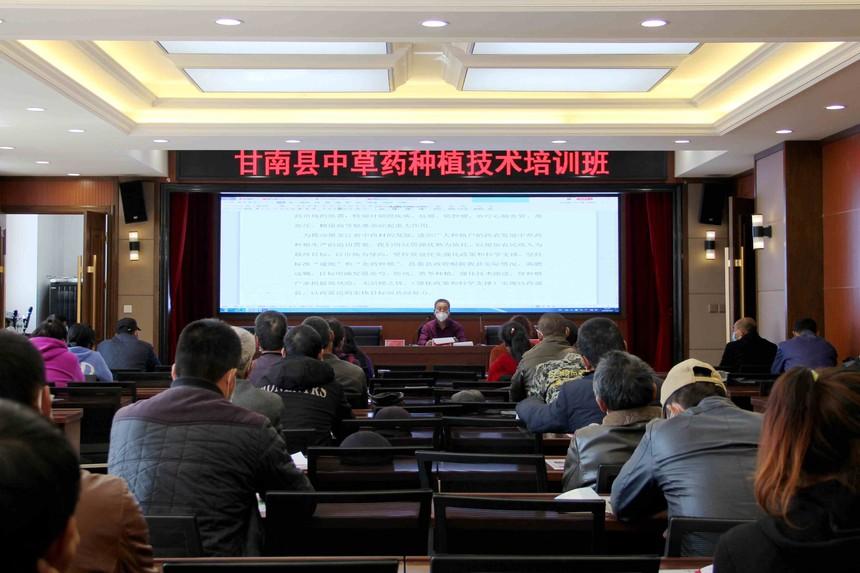 甘南县中草药种植技术培训班开班