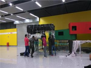 上海市16号地铁站临港大道集装箱【归航】雕塑加工