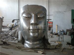 不锈钢佛像雕塑制作过程_上海古夏雕塑公司