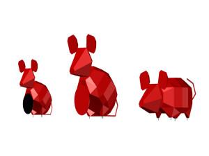 """镜面七彩老鼠不锈钢雕塑制作工艺""""2020鼠年是最棒的!"""