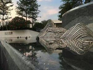 山水水景假山不锈钢雕塑-来为您推荐上海古夏雕塑公司
