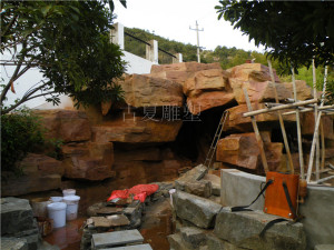 假山塑石施工