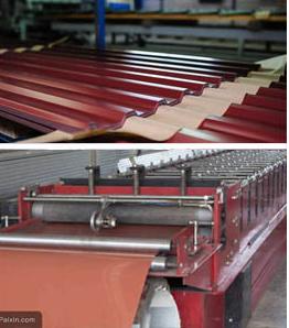 金属瓦生产过程