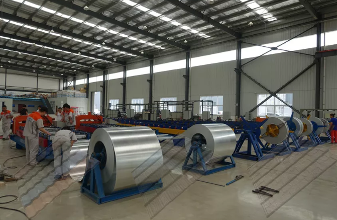 金属瓦生产