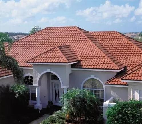 彩石金屬瓦建筑