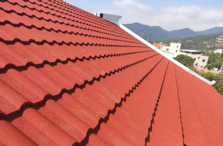 彩石金属瓦屋面效果图