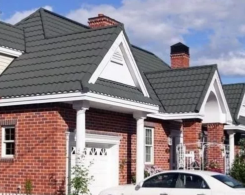 彩石金屬瓦屋面建筑