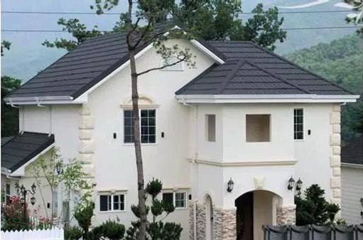 彩石金属瓦屋面建筑