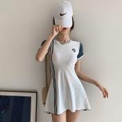 奢亦璐裙式连体泳衣