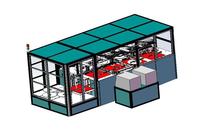 SMD真空包装机总体规划图