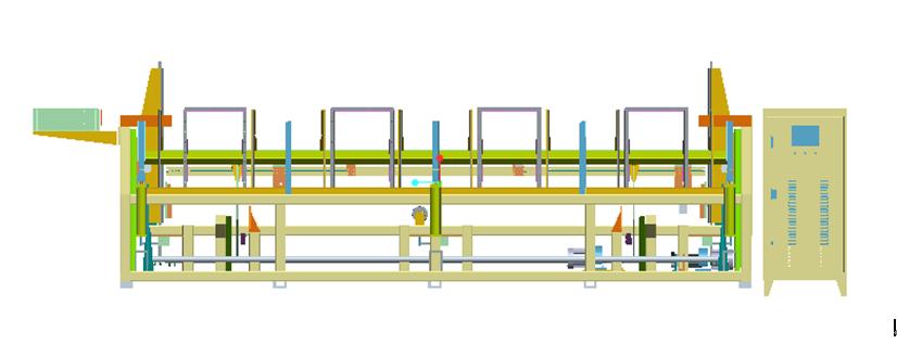 1.激光切管机自动上料机构主体效果图