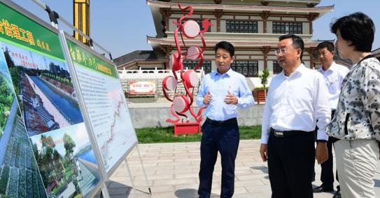 唐仁健在白银调研黄河治理保护工作