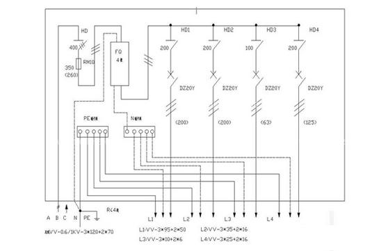 家用配电箱接线图