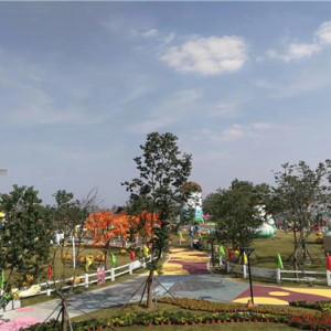 生態透水混凝土-主題公園人行道