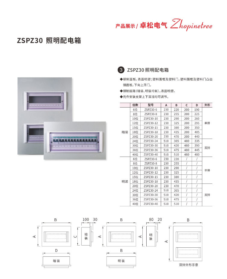 照明配电箱ZSPZ