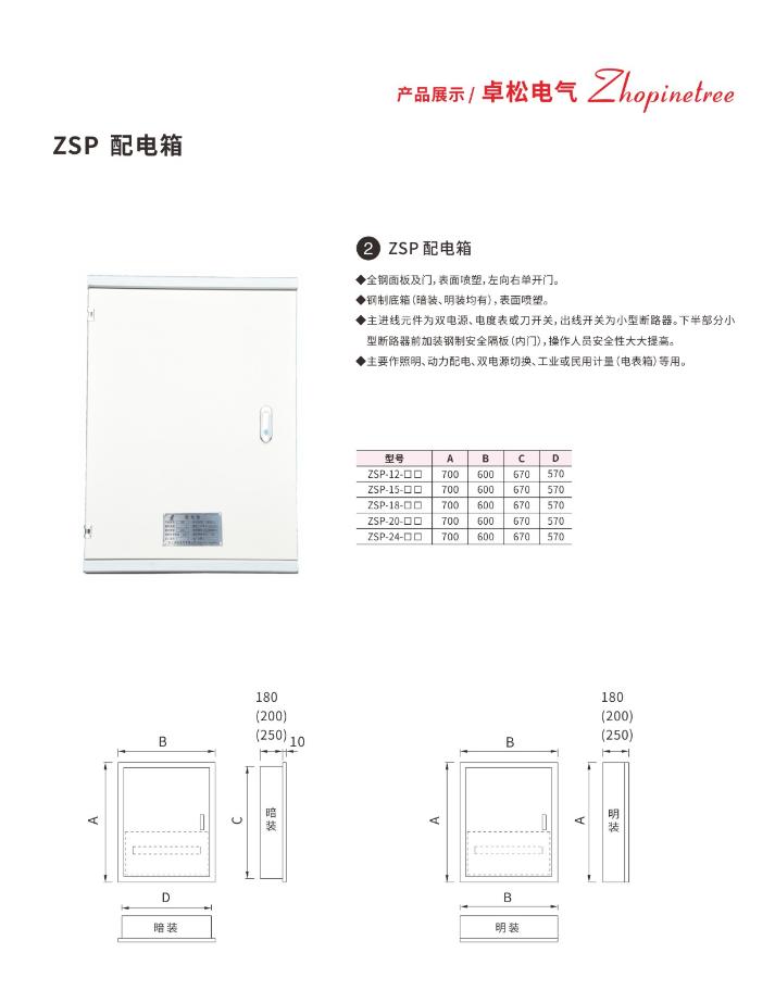 配电箱ZSP