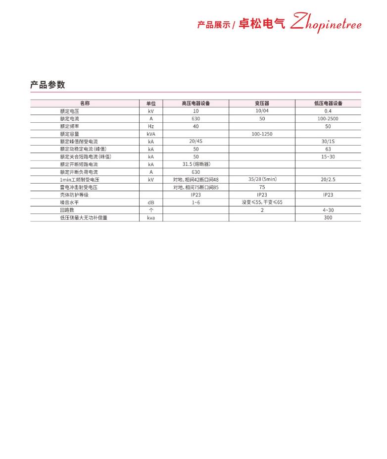 YB-12-0.4 箱式变电站