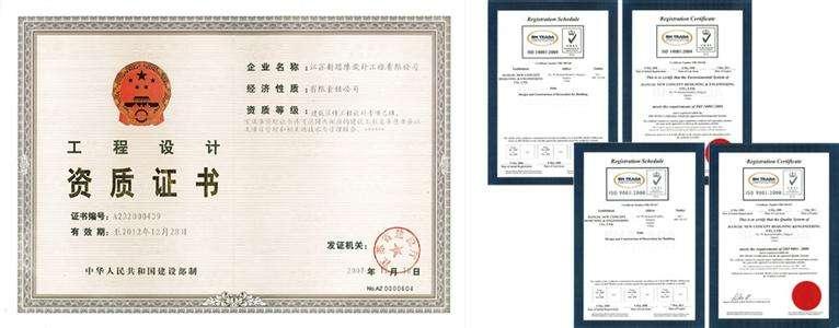建筑企业工程资质证书