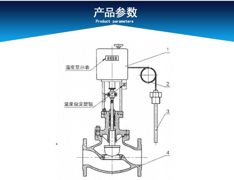 電控溫度控制調節閥產品參數1