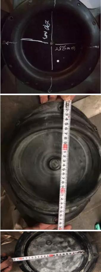 290mm为膜片的ΦD尺寸,256mm为螺孔中心距ΦD2。