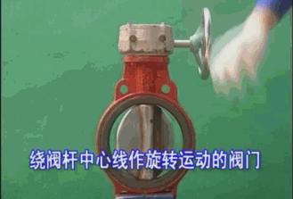 绕阀杆中心作旋转运动的阀门
