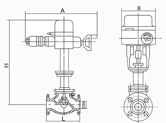 电动调节阀结构图