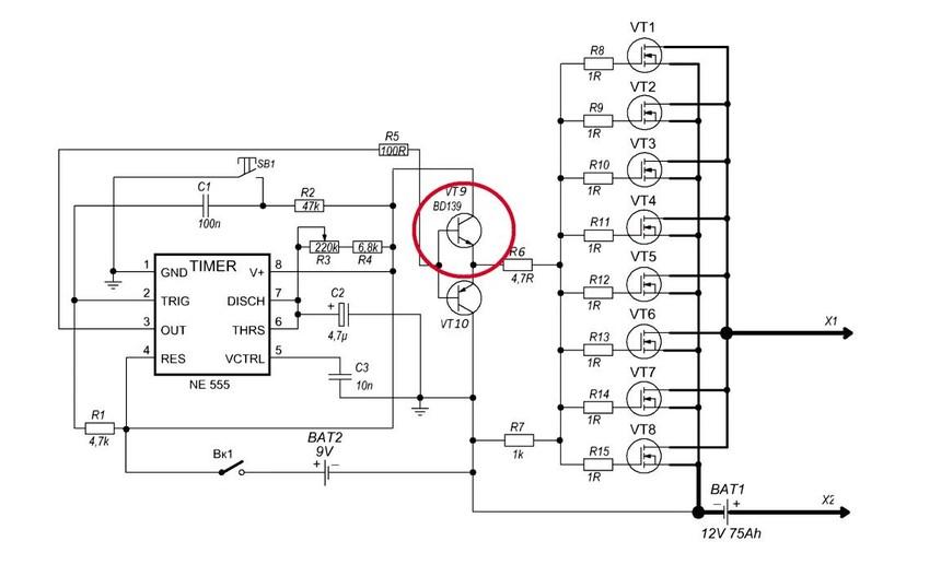 点焊机变压器原理图
