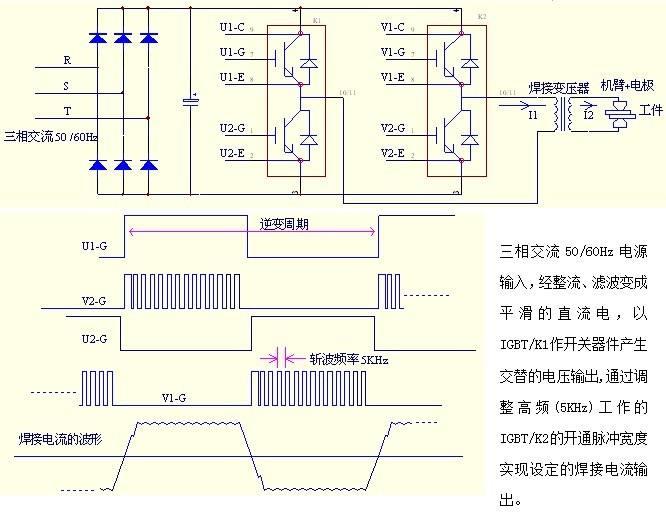 中频点焊机控制器原理图