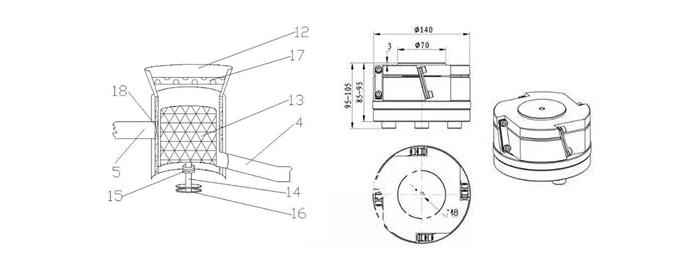 振动盘底座结构图