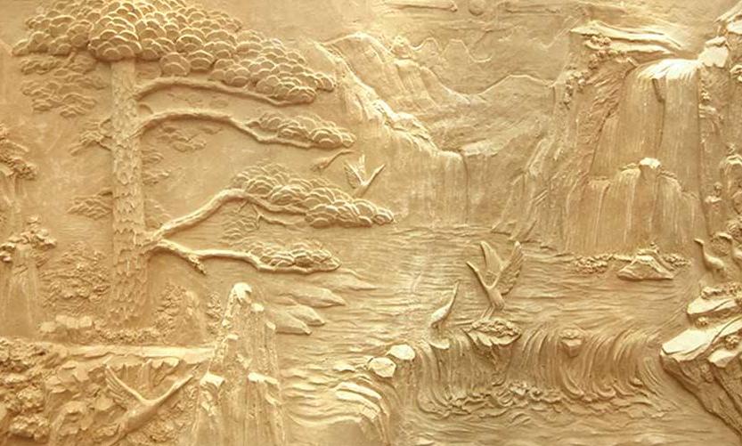 如何清理砂岩浮雕夹缝中的污垢