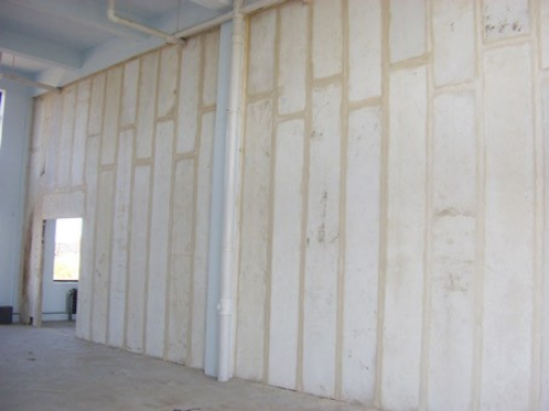 grc轻质隔墙板人工安装