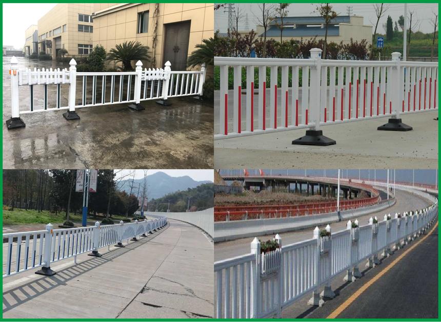 pvc道路护栏实景