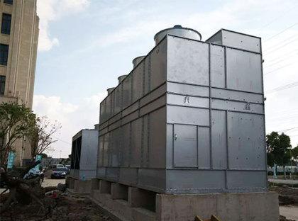 玻璃钢冷却塔设备组成及工作原理