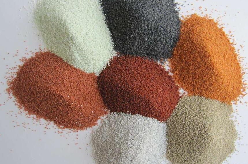 高温烧结彩砂和染色彩砂的不同之处?