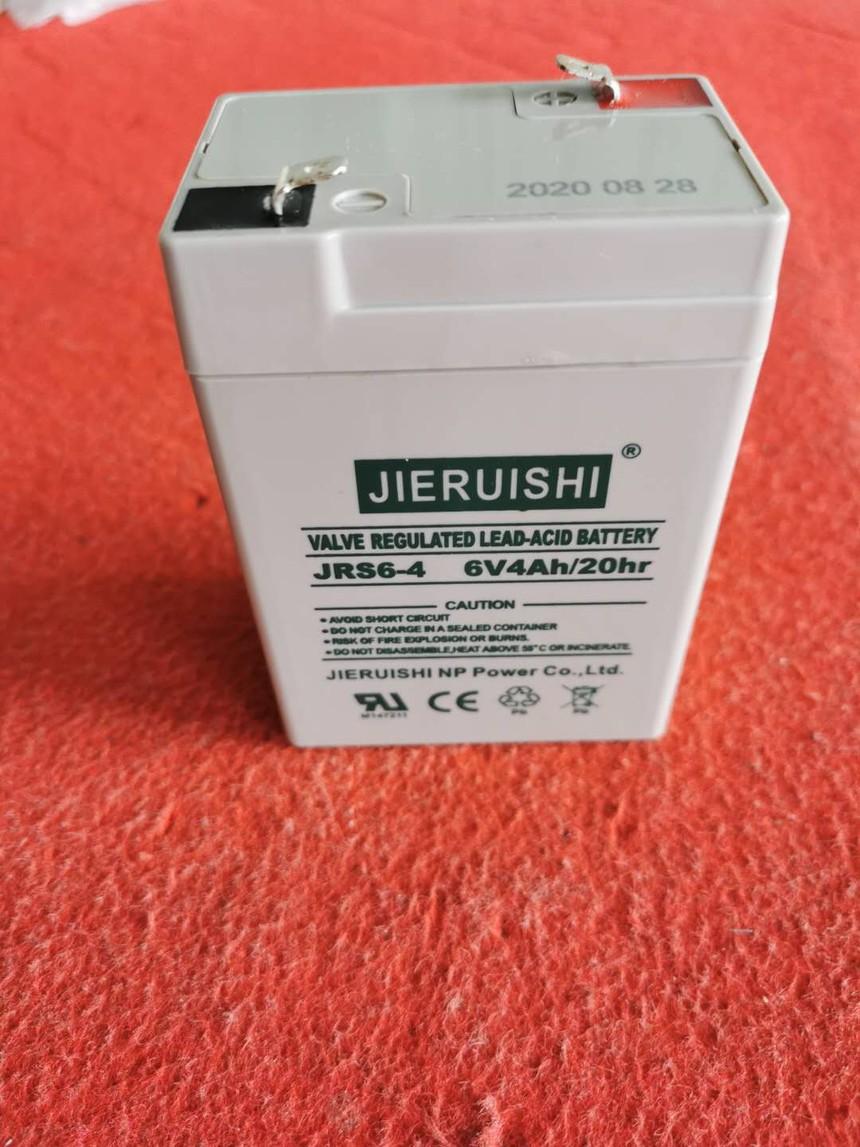 杰瑞士6V4AH蓄电池电子秤电池 童车蓄电池