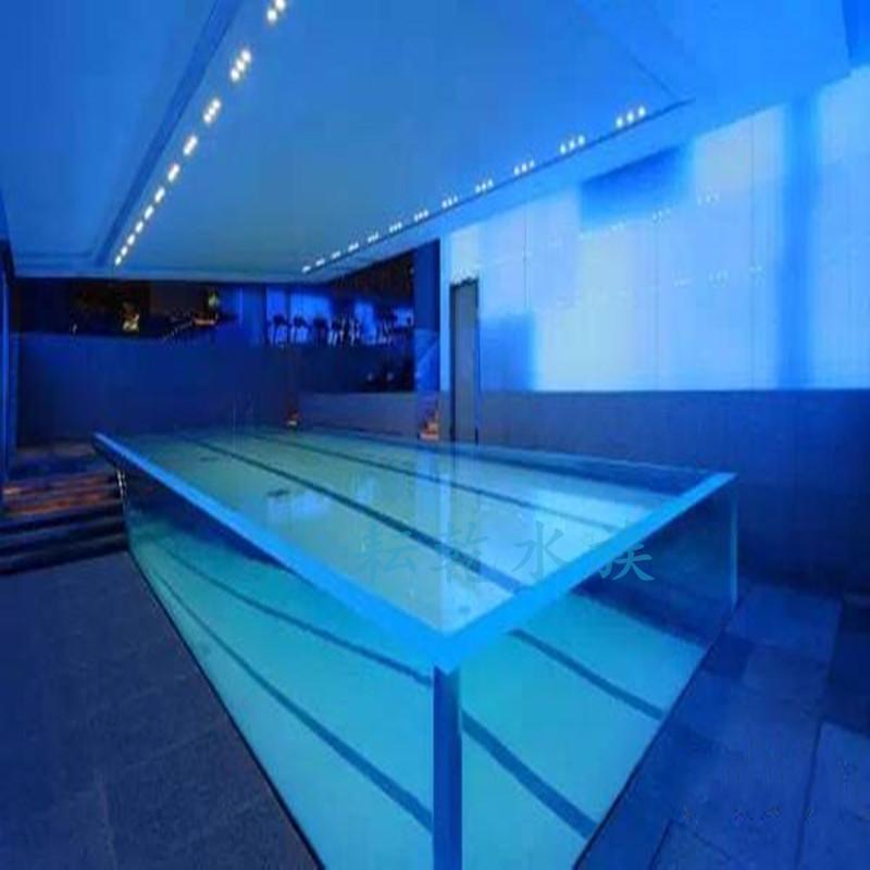 透明亚克力泳池,大型亚克力游泳池设计就找上海耘乾水族