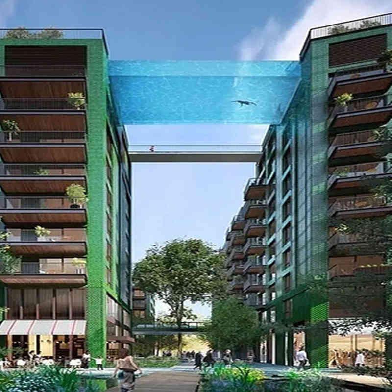 屋顶透明游泳池_透明玻璃游泳池设计咨询13162356777