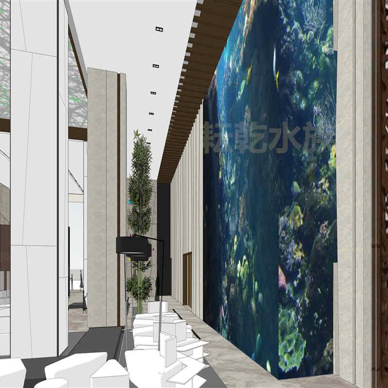 大型亚克力鱼缸厂家,定制大型亚克力鱼缸就找上海耘乾水族工程有限公司咨询13162356777