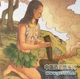 燧人钻木取火的故事