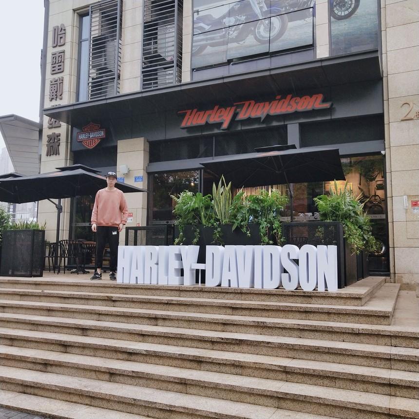 鸳鸯哈雷摩托4s咖啡厅