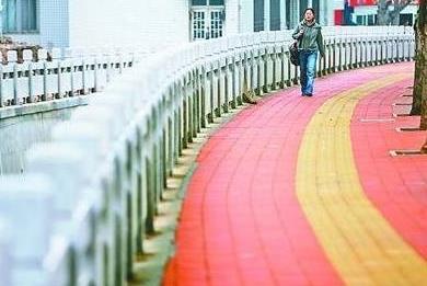 彩色陶瓷防滑路面