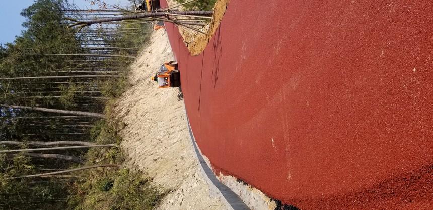 热拌彩色沥青路面施工